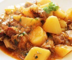 Картошка с мясом в афганском казане.